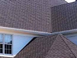 Stone coated shingles on a home.