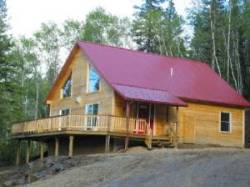 Metal roofing on cabins.