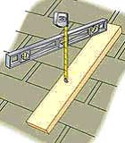Measure pitch using a level and tape measure