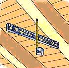 Measure roof pitch from the attic