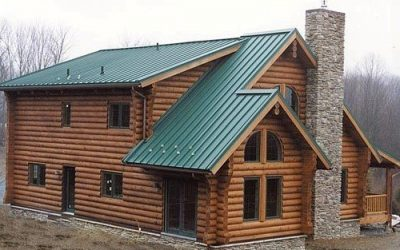 Log Homes Look Great With a Metal Roof