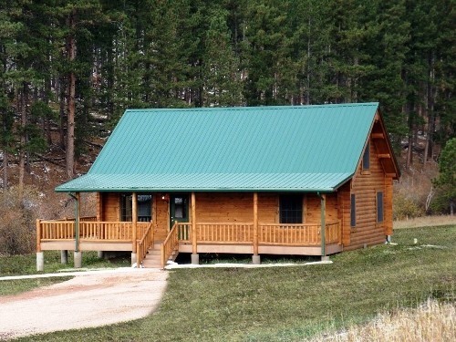 Metal roofing panels top handsome mountain cabins Cabins with metal roofs