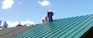 Maintenance of a metal roof