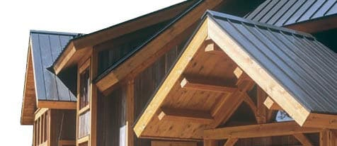 Steel Roofing for a Custom-Built Lodge