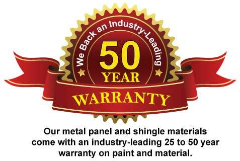 We back your purchase with an industry-leading 25 to 50 year warranty.