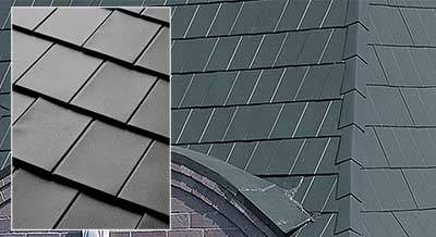 Steel roofing shingles