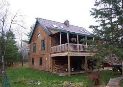 Two Story Cabin Roof