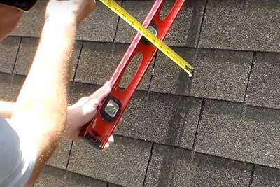 How to measure for roof pitch