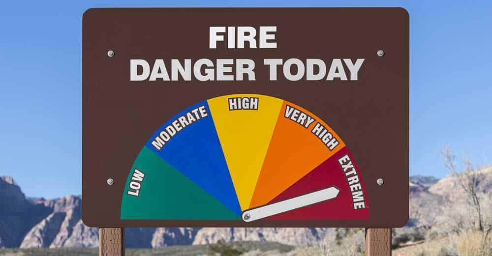 Fire Danger High Sign